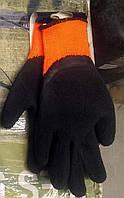 Прорезиненые перчатки рабочие черные Gebol р. L