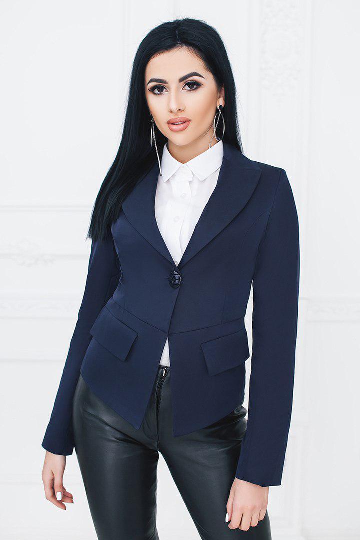 """Элегантный женский пиджак """"TIDA"""" с длинным рукавом (2 цвета)"""