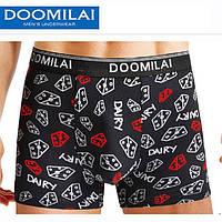 Мужские стрейчевые боксеры из бамбука марка «DOOMILAI» Арт.D-01097