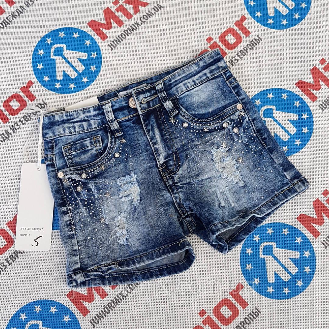 Подростковые джинсовые шорты для девочек оптом