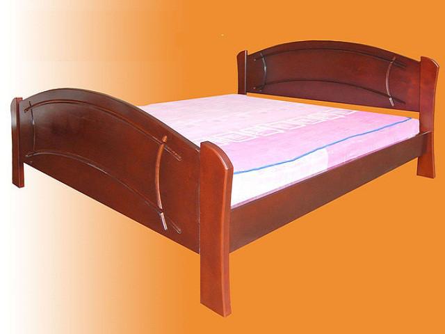 Ліжко двоспальне з натурального дерева в спальню Ассоль 160*200 Єлісєєвські меблі
