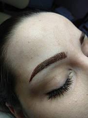 Пудровый татуаж бровей перманентный макияж Днепр