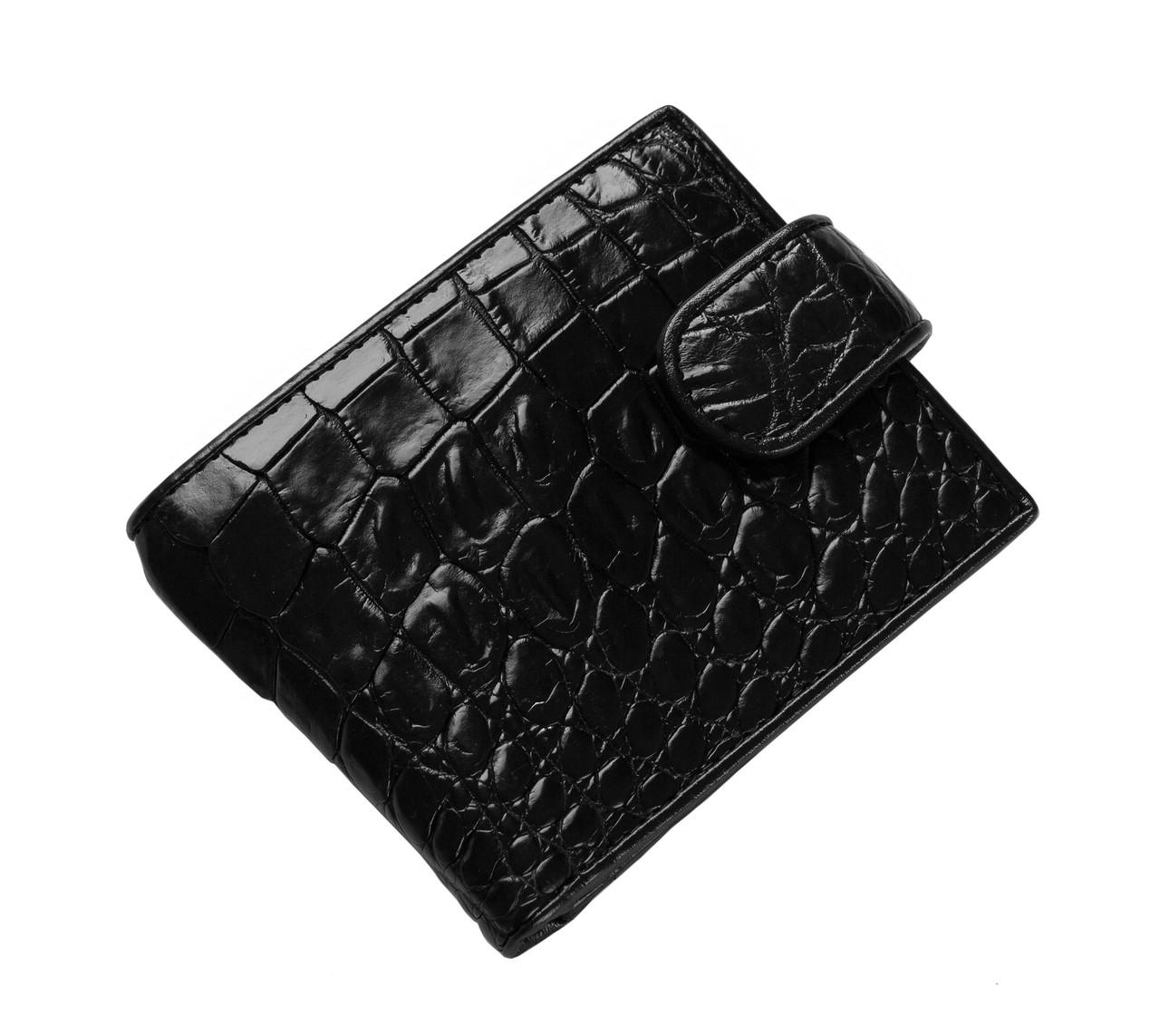 Гаманець зі шкіри крокодила Чорний (cw 33)