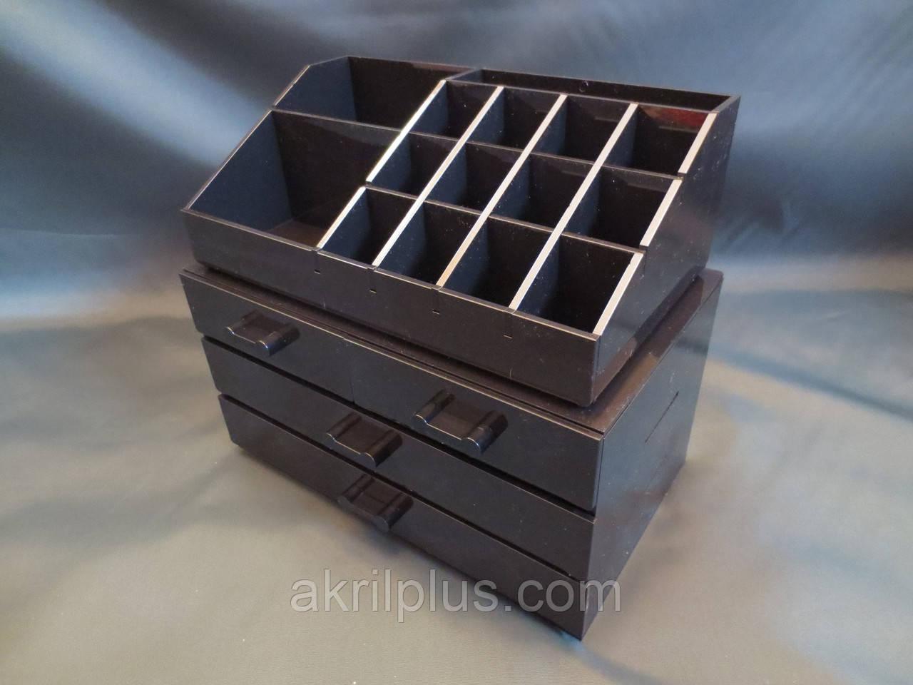 Органайзер для хранения косметики черный, фото 1