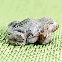 Яшма серая, статуэтка лягушка, 307ФГЯ