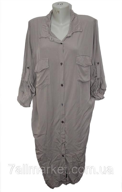 """Рубашка женская удлиненная полубатальная размер 52-56 """"ITALIA"""" купить оптом в Одессе на 7км"""