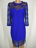 """Женское нежное платье с гипюром в голубом цвете """"Spring"""""""