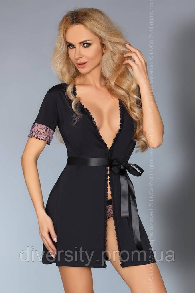 Стильный халат Dina LC L/XL, черный