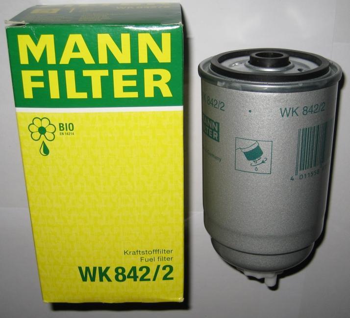 Фильтр очистки топлива Mann wk842/2 для автомобилей Alfa, Fiat, VW, Audi