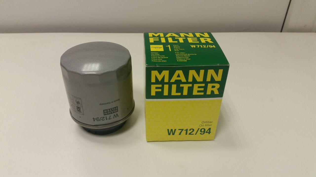 Масляный фильтр Mann W712/94 для Audi, Seat, Skoda, VW