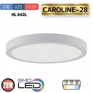 """Накладний, круглий світлодіодний LED світильник Horoz """"CAROLINE - 28"""" 28W 6400K, фото 2"""