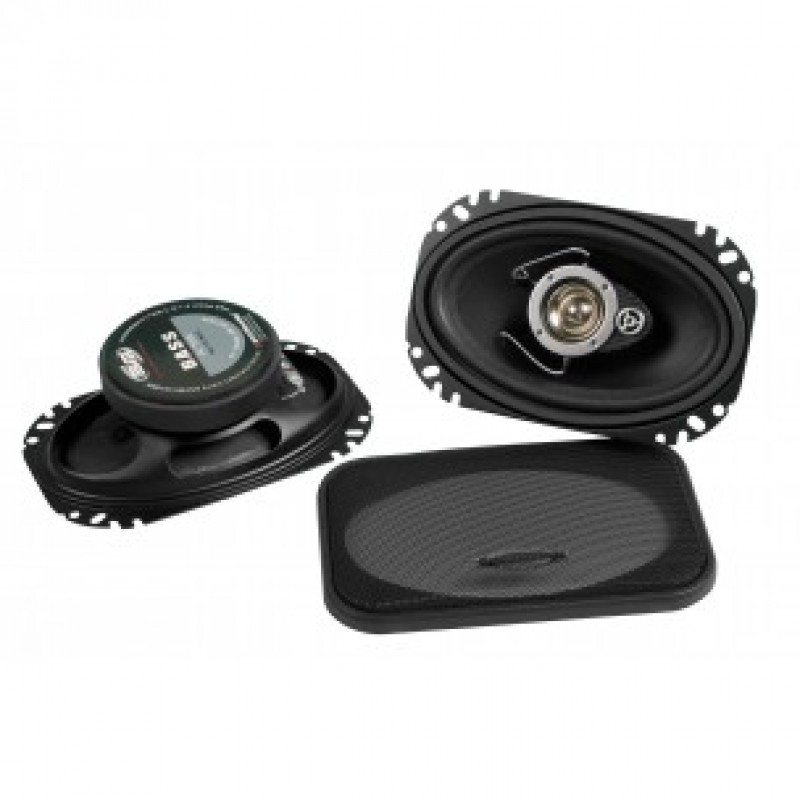 "Автомобильная акустика 6""х 4"" (16 х 10см) 3-х полосная коаксиальная BM Boschmann PR-4677KW 200W"