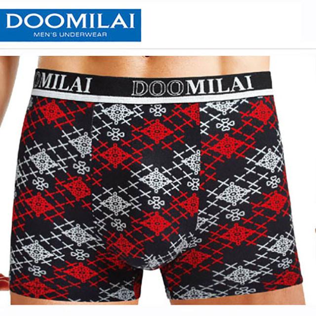 Мужские стрейчевые  боксеры из бамбука Марка «DOOMILAI»  Арт.D-01057