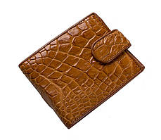 Кошелек из кожи крокодила Коричневый (cw 34)
