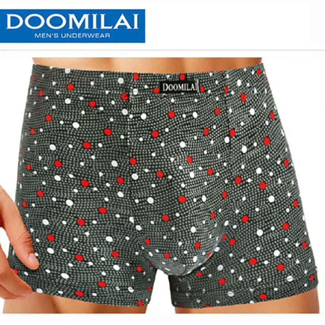 Мужские боксеры стрейчевые из бамбука  Марка  «DOOMILAI»  Арт.D-01064