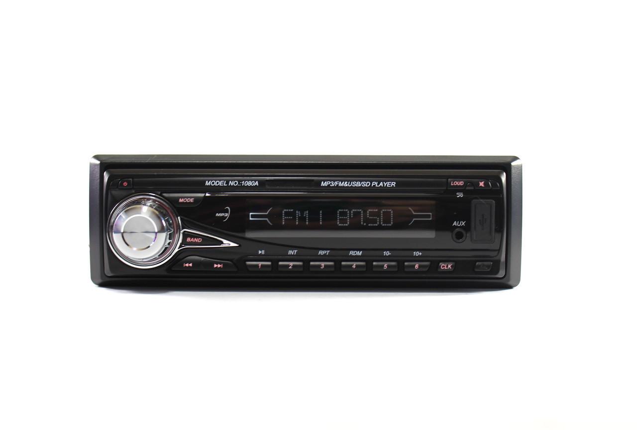 Автомагнитола  MP3 1080A съемная панель ISO cable