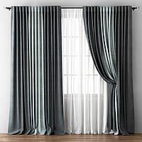 Готовый комплект из портьерной ткани - Трио (ширина 5 метров)