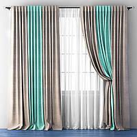 Готовый комплект из портьерной ткани - Трио (ширина 4 метра)
