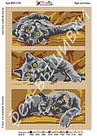 """Схема для вышивки бисером  """"Три котенка"""", формат А-3"""