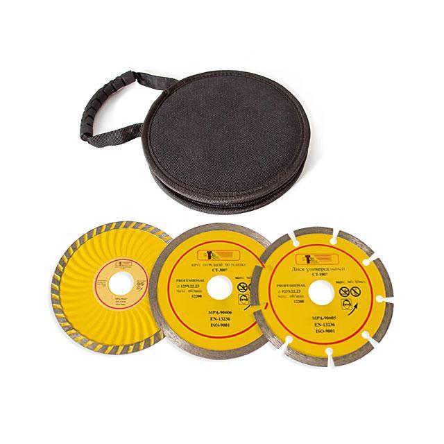 Набор отрезных алмазных кругов 125мм, 3штуки INTERTOOL CT-1050
