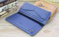Портмоне или кошелек кожаный синий SM-2038SR