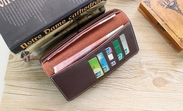 Портмоне или кошелек кожаный коричневый SM-2038PB, фото 3