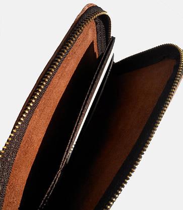 Портмоне или кошелек кожаный коричневый на молнии SM-2038PBM, фото 2