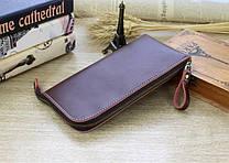 Портмоне или кошелек кожаный коричневый на молнии SM-2038PBM