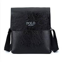 Мужская сумка Polo черная на плечо Черный