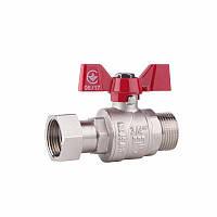 SD FORTE Кран шаровый прямой с накидной гайкой для воды 1/2в х 1/2н SF261W15
