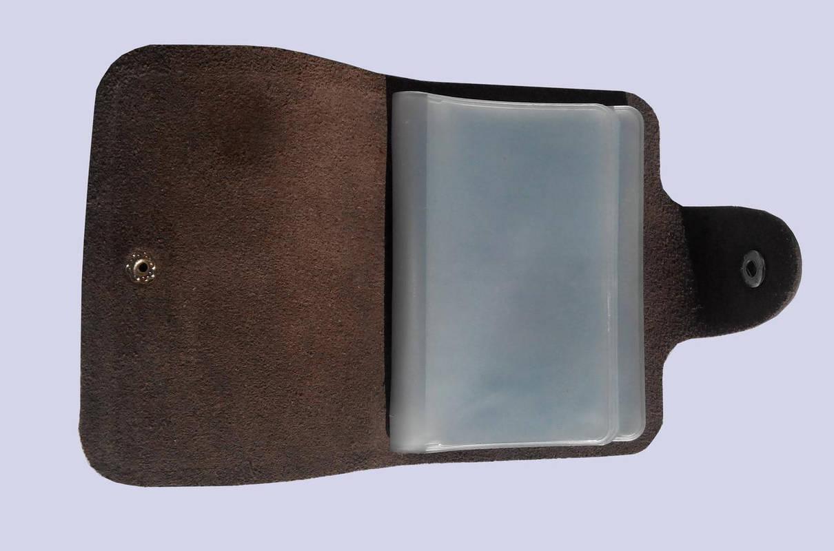 Визитница кожаная коричневая SM-2038VC1, фото 2