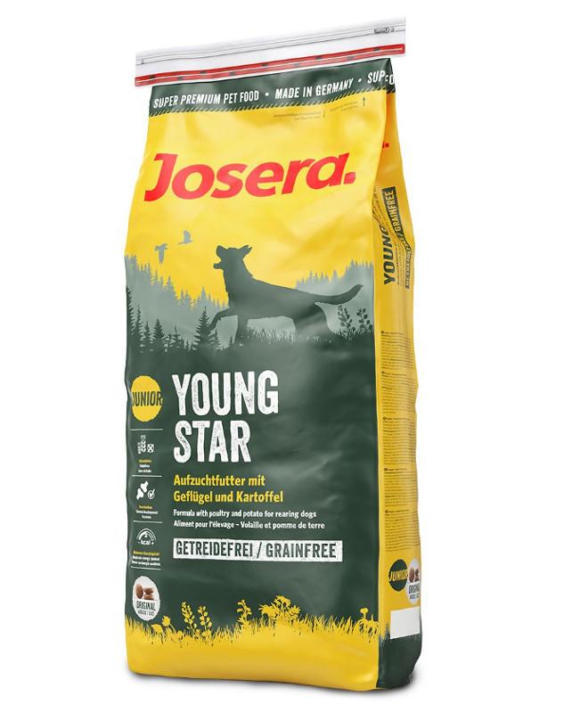 Josera Young Star 15 кг - беззерновой корм  для щенков средних и крупных пород от 8 недель