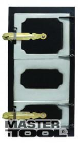 Дверка спаренная топочная + поддувальная 540*260 мм черн. мет., Арт.: 92-0369