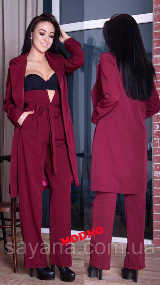 7c9e47cbac1 Купить Женский костюм  удлинённый пиджак и брюки в расцветках. МД-7 ...