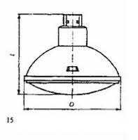 Лампа-фара ЛФРН 12-300 CP60 VNSP G16d