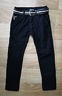 Котоновые брюки на флисе для мальчиков Seagull ,116-146 рр. {есть:116}