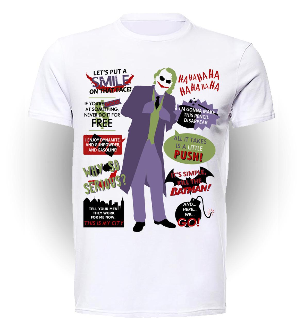 Футболка GeekLand Джокер Joker Цитаты Джокер JO.01.056