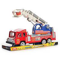 Пожарная машина 300-7 (36шт) инер-я, 32см, подвижная стрела, в слюде, 35,5-15,5-11см