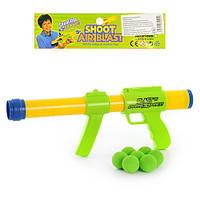 Автомат 8102 A  40см, стреляет шариками, шарики(мягкие) 8шт, в кульке, 46-19,5-5см