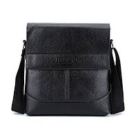 Мужская сумка Polo черная на плечо, фото 1