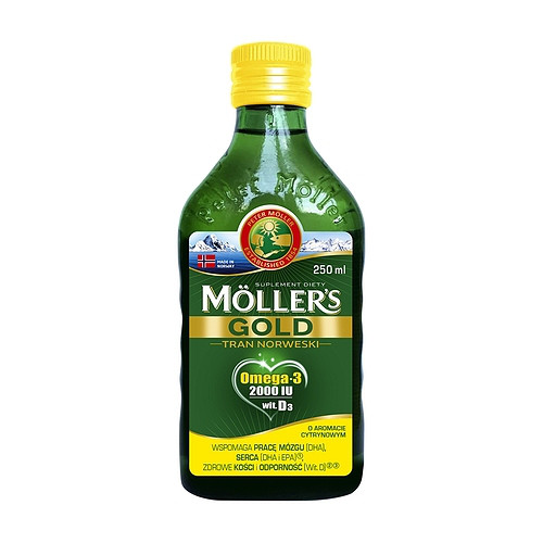 Mollers tran GOLD omega-3 норвежский рыбий жир 250 мл