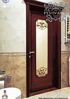 Витражи Тиффани в двери ванной комнаты