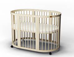 Детская овальная кроватка IngVart Smartbed Round 9 в 1