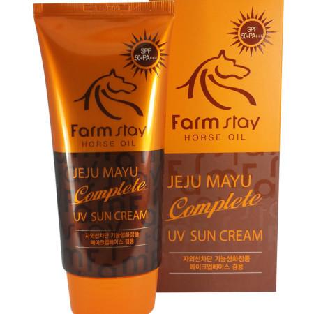 Солнцезащитный крем FarmStay Jeju Mayu Complete UV Sun Cream SPF50+/PA+++