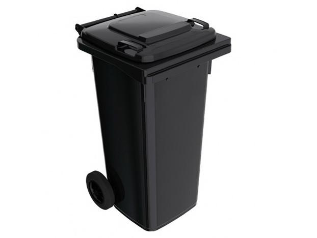 Бак для мусора пластиковый 120 л. Черный,  На колесиках - Мебель компании интернет магазин Деверóис в Киеве