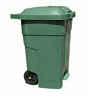 Бак для мусора пластиковый 70 л. С педалью, Зеленый