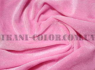 Велюр стрейчевый розовый