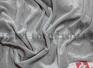 Велюр стрейчевый серый