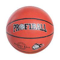 Мяч баскетбольный PROFIBALL EV 3158 размер7,ПВХ,8панелей,рисунок-тиснение,
