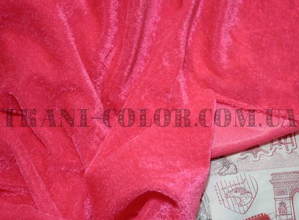 Велюр стрейчевый розовый неон, фото 2
